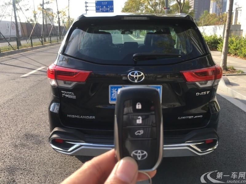 丰田汉兰达 2018款 2.0T 自动 四驱 至尊版 (国Ⅵ)